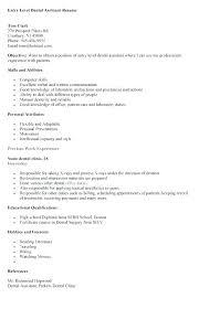 Dental Assistant Resume Objective Entry Level Dental Assistant Resume Dental Assistant Resume 29