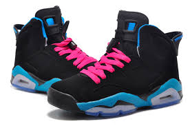 jordan shoes for girls 2014 black and white. girls new air jordan 6 retro south beach black dynamic blue white vivid pink 2015 shoes for 2014 and