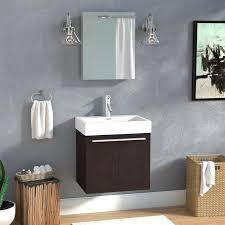 stirring studio wall mounted single bathroom vanity set bathroom vanity flush against wall