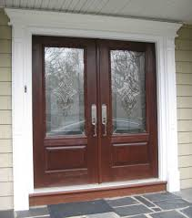 white single front doors. Exterior Glass Front Door Design With Casement Window And White Pillars Also Can You Paint Vinyl Single Doors O