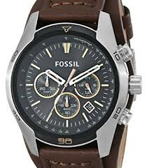 fossil ch2891 watches men s coachman chronograph leather watch fossil ch2891 watches men s coachman chronograph leather watch brown