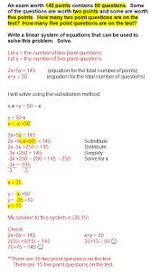 systems of equations with elimination