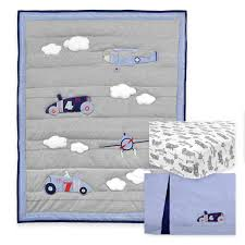 triboro just born 3 pc crib bedding set retro ride