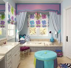 bathroom designs for kids. Floral Art Bathroom Design For Kids Designs P