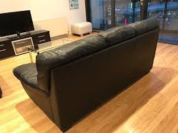 3 and 2 seater italian black leather sofas in southside glasgow gumtree