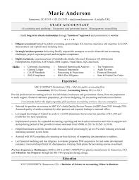 Resume Examples For Accounting