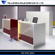 office counter design. Tell World Office Furniture Leading Producer Acrylic Solid Surface Modern Front Desk Counter Design T