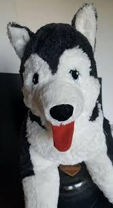ikea plush jumbo stuffed siberian husky x large puppy dog livlig black white ikea