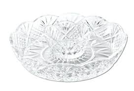 snacks serving tray crystal appetizer serving platter for parties chips and dip or snacks hosting plate snacks serving tray