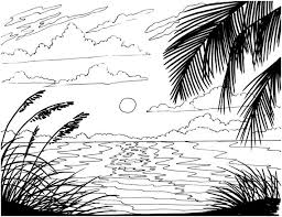 Small Picture Beach Sunrise coloring page embroidery pattern beach art
