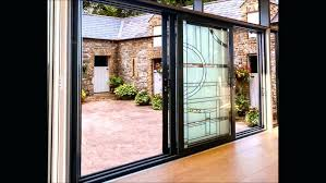 triple sliding glass door foot sliding glass door cost inch french patio doors 4 panel sliding