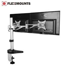 fleximounts clamp dual monitor arm desk mounts monitor stand for 10