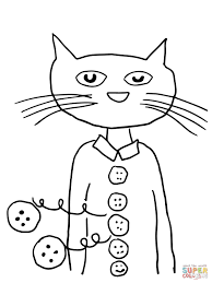 Pete The Cat Groovy Buttons Coloring Page Free Printable