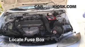 blown fuse check 1995 1999 mitsubishi eclipse 1996 mitsubishi locate engine fuse box and remove cover