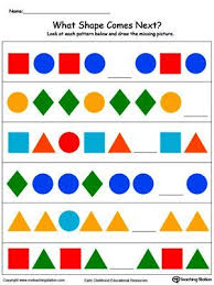 Patterns For Preschool Unique Preschool And Kindergarten Worksheets Michelle's Pinterest