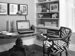 home office decor ideas. Inspiring Design White Cool Home Office Decor Ideas With Open Cabinets And Circled Pedestal Laptop Table In Classy Views R