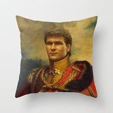 patrick swayze replaceface throw pillow