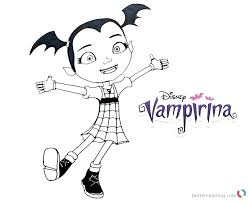 Vampirina Coloring Pages Inviting Free Page For Kids With Regard To