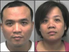 Hanh Van Vu and half sister Duc Thi Vu. The pair were caught when a man they smuggled in contacted police - _47271552_trafficking