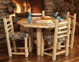 Octagon Cedar Log Rec Table