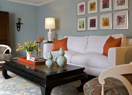 Decorations Charming Living Room Design With Orange Decorating