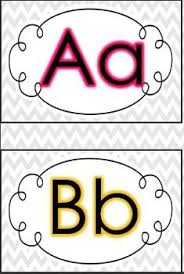 Printable Chevron Letters Chevron Word Wall Letters Clipart Panda Free Clipart Images