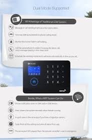 digoo dg hosa 433mhz wireless black 3g gsm wifi diy smart home security alarm systems kits infrared motion