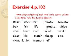 plural form of knife nouns 1 kinds of nouns ppt download