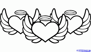 Drawing Pages Angel Wings Coloring Pages To Print Free Coloring Pages