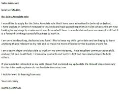 Sales Associate Cover Letter Well Snapshoot Sample Example Of A