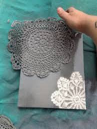 Canvas Design Ideas canvas ideas get some kinda holder fabric like lace and spray paint it over