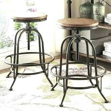 bar height pub table industrial counter style round adjustable with square