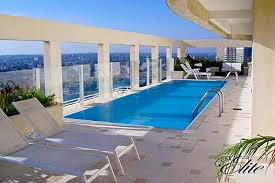 South penthouse swimming pool facing the city Private ...