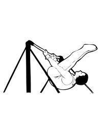 Artistieke Gymnastiek Op De Hoge Legger Kleurplaat Gratis