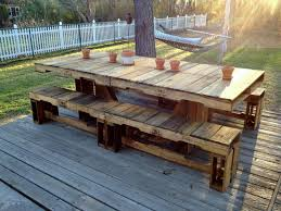 outdoor pallet wood. Pallet Patio Table Outdoor Wood