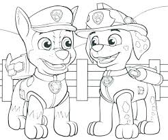 Spy Chase Paw Patrol Coloring Pages