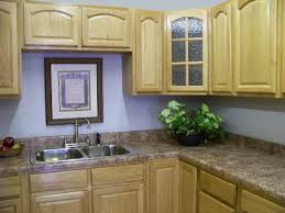 kitchen color ideas with light oak cabinets. Light Oak Kitchen Cabinets Wall Color With Stone Countertops From Giallo Vicenza Granite Below Blue Tail Ideas
