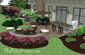 How To Design Backyard Interesting Patio Design Tool Stone Patio Landscaping Backyard Stone Patio
