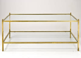 High Quality Jacques Adnet Style Vintage Brass U0026 Glass Coffee Table 3 Amazing Design