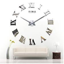 new diy 3d roman numerals home decoration wedding decoration wall clock modern design large size wall clock unique gift wall stickers