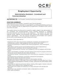 Admin Assistant Job Description Resume Administrative Duties