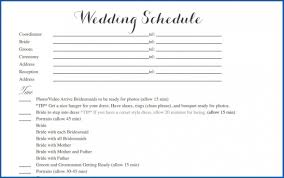 009 Wedding Day Itinerary Template Free Sample Of Timeline