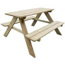 details about kids picnic table outdoor garden patio wooden bench childrens furniture benches