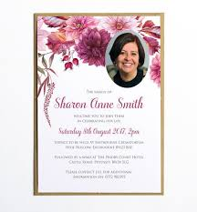 Funeral Invitation Template Gorgeous Funeral Memorial Announcement Or Invitation Dahlias Floral
