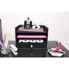 Decorative Letter Trays Designovation Francesca Desktop Organizer With 100 Letter Trays and 24