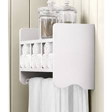 Alaterre 25-inch Wood Bath Storage Shelf with Towel Rod - Free Shipping  Today - Overstock.com - 19940752