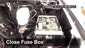 blown fuse check chevrolet silverado hd  6 replace cover secure the cover and test component