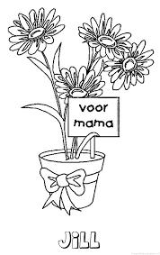 Jill Moederdag Naam Kleurplaat