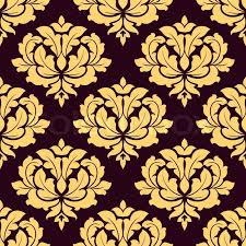 Gold Damask Background Pretty Gold And Brown Damask Style Stock Vector