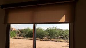 motorized roller shades on patio door